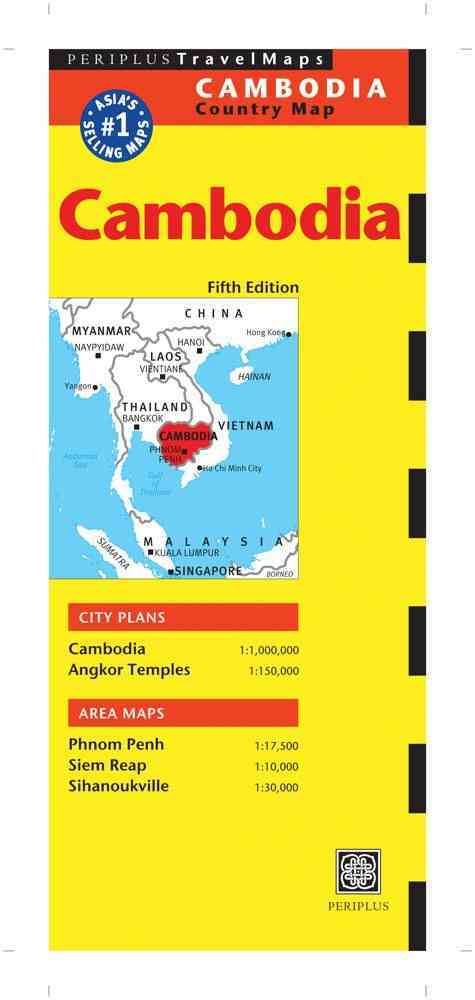 Cambodia Travel Map By Periplus Editors (COR)